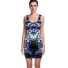 Officially Sexy Panther  Collection Blue Sleeveless Bodycon Dress