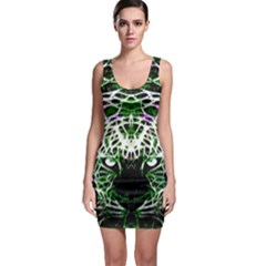 Officially Sexy Panther Collection Green Sleeveless Bodycon Dress