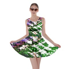 Officially Sexy Floating Hearts Collection Green Skater Dress