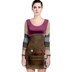 Lindisfarne Mix Long Sleeve Bodycon Dress