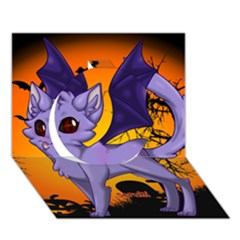 Seruki Vampire Kitty Cat Circle 3d Greeting Card (7x5)