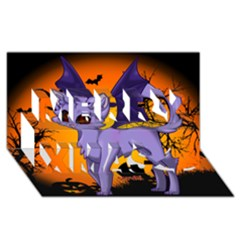 Seruki Vampire Kitty Cat Merry Xmas 3D Greeting Card (8x4)