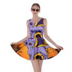 Seruki Vampire Kitty Cat Skater Dresses
