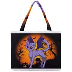 Seruki Vampire Kitty Cat Tiny Tote Bags