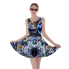 Officially Sexy Panther Collection Blue Skater Dress