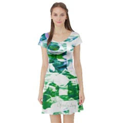 Officially Sexy Candy Collection Green Short Sleeve Skater Dress