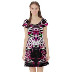 Officially Sexy Panther Collection Pink Short Sleeve Skater Dress