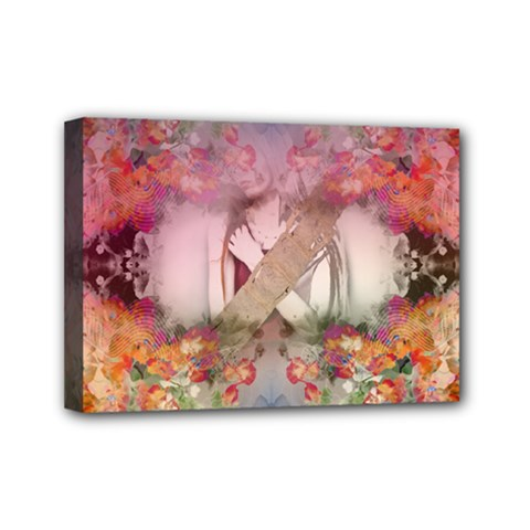 Cell Phone   Nature Forces Mini Canvas 7  X 5