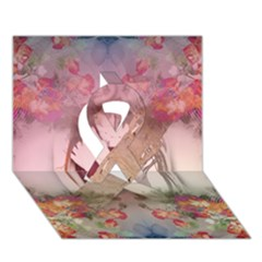 Cell Phone   Nature Forces Ribbon 3d Greeting Card (7x5)