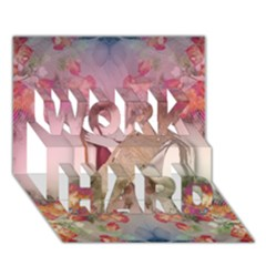 Cell Phone - Nature Forces WORK HARD 3D Greeting Card (7x5)