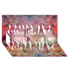 Cell Phone - Nature Forces Congrats Graduate 3D Greeting Card (8x4)