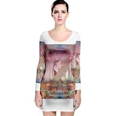 Cell Phone - Nature Forces Long Sleeve Bodycon Dresses