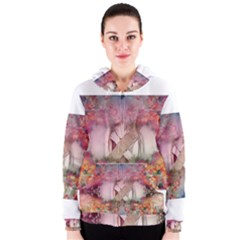 Cell Phone   Nature Forces Women s Zipper Hoodies