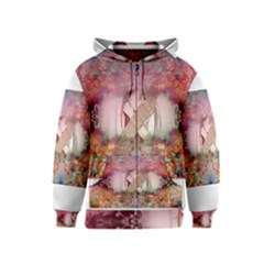 Cell Phone - Nature Forces Kids Zipper Hoodies