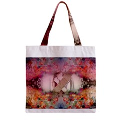 Cell Phone - Nature Forces Zipper Grocery Tote Bags