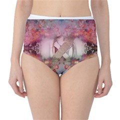 Cell Phone - Nature Forces High-Waist Bikini Bottoms