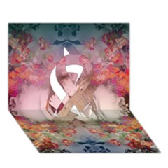 Nature And Human Forces Cowcow Ribbon 3D Greeting Card (7x5)