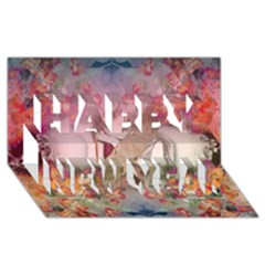 Nature And Human Forces Cowcow Happy New Year 3d Greeting Card (8x4)