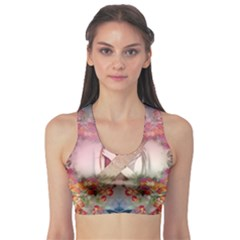 Nature And Human Forces Cowcow Women s Sports Bra