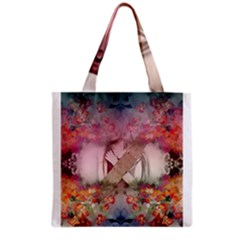 Nature And Human Forces Cowcow Grocery Tote Bags