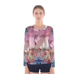Nature And Human Forces Cowcow Women s Long Sleeve T-shirts