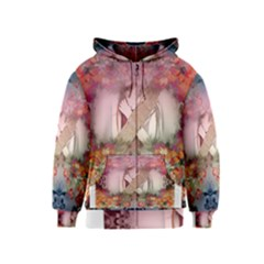 Nature And Human Forces Cowcow Kids Zipper Hoodies