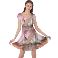 Nature And Human Forces Cowcow Cap Sleeve Dresses