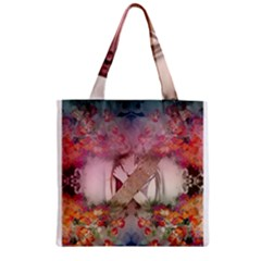 Nature And Human Forces Cowcow Zipper Grocery Tote Bags