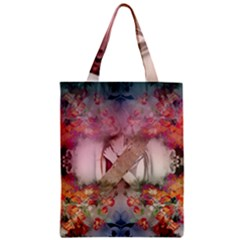 Nature And Human Forces Cowcow Zipper Classic Tote Bags