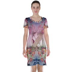 Nature And Human Forces Cowcow Short Sleeve Nightdresses