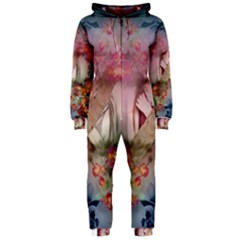 Nature And Human Forces Cowcow Hooded Jumpsuit (Ladies)