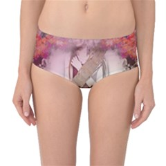 Nature And Human Forces Cowcow Mid Waist Bikini Bottoms