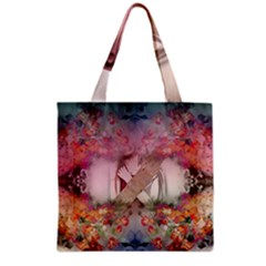 Nature And Human Forces Grocery Tote Bags