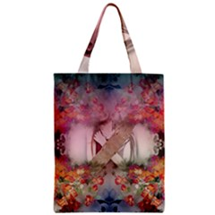 Nature and Human Forces Zipper Classic Tote Bags