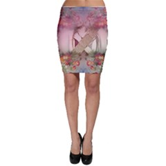 Nature And Human Forces Bodycon Skirts