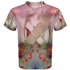 Nature And Human Forces Men s Cotton Tees