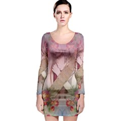 Nature And Human Forces Long Sleeve Bodycon Dresses