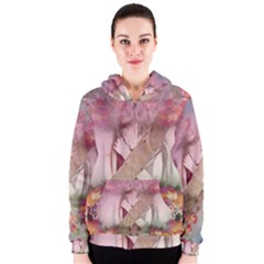 Nature And Human Forces Women s Zipper Hoodies