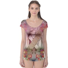 Nature And Human Forces Short Sleeve Leotard