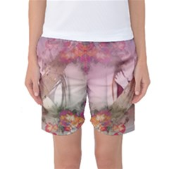 Nature And Human Forces Women s Basketball Shorts