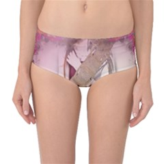 Nature And Human Forces Mid-Waist Bikini Bottoms