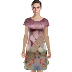 Nature And Human Forces Cap Sleeve Nightdresses