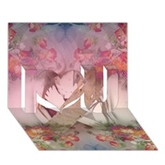 Nature and Human Force I Love You 3D Greeting Card (7x5)