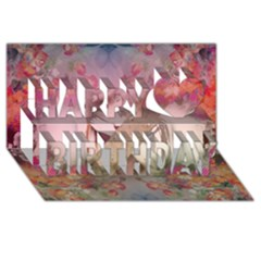 Nature and Human Force Happy Birthday 3D Greeting Card (8x4)
