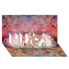Nature and Human Force HUGS 3D Greeting Card (8x4)