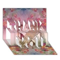 Nature and Human Force THANK YOU 3D Greeting Card (7x5)