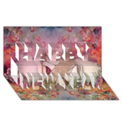 Nature And Human Force Happy New Year 3d Greeting Card (8x4)