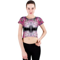 Nature forces Abstract Crew Neck Crop Top
