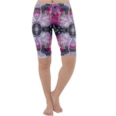 Nature forces Abstract Cropped Leggings