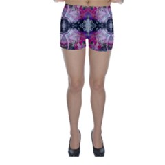 Nature forces Abstract Skinny Shorts